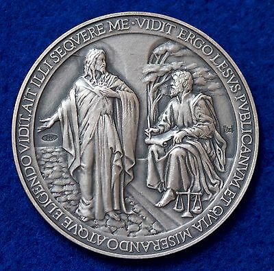 "2013 Vatican City Pope Francis 1st year Anniv. Medallion With ERROR ""LESUS"" COA"