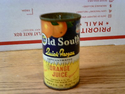 VINTAGE 6 oz TIN CAN OFOLD SOUTH CONCENTRATE ORANGE JUICE.........USA