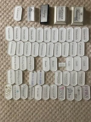 Jewelry Store Display Tags For Inlay Lot Of 54