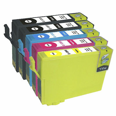 5 Non-Oem Ink T126 126 Nx430 For Epson Workforce 520 545 630 633 635 Wf-3520 840