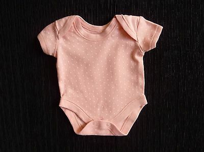 Baby clothes GIRL premature/tiny<7.5lbs/3.4kg peach spot bodysuit/top short slee
