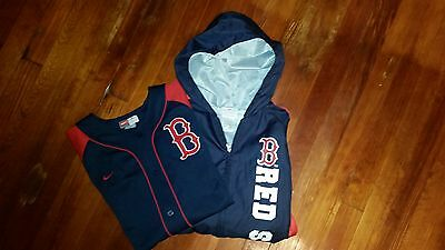 Boston Red Sox Hooded Windbreaker And Jersey Size Large(10-12)