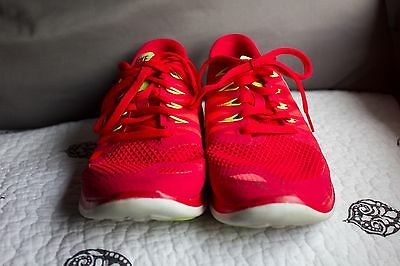 WOMEN S RED NIKE Free 5.0 Running Sneakers Size 7.5 -  40.00  1b21d339cd3a