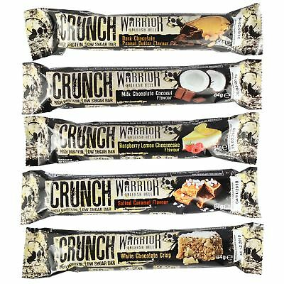 Warrior Crunch High Protein Low Carb Individual & Mixed Taster Packs Bars 64g