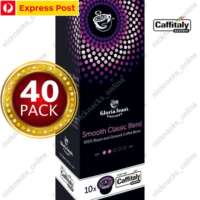 Gloria Jeans Coffee Capsules Smooth Classic Blend  40 Pods for Caffitaly System