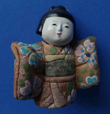 Antique Japanese Kimekomi Art Doll Hand Paint Beautiful Girl / Lady Kimono JAPAN