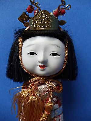 Vintage Japanese Kimekomi Art Doll Beautiful Girl  Kimono JAPAN