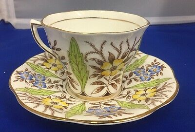 Rosina China England Tea Cup and Saucer Pattern  Floral Pattern
