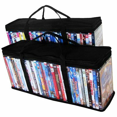 Evelots 2 DVD Blue-ray Media Storage Case Bags Hold up to 72 DVDs 36 Each Bag