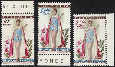1959 COLOMBIA - n° 563 + A 315/316 set of 3 MNH/**