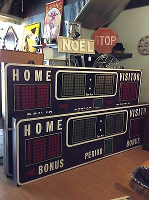 Authentic Vintage Fairtron Gymnasium Scoreboard  For Sports Bar