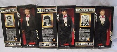 Set of Three Stooges Dolls Starring Larry Curly Moe Collector Edition 1997 B6626