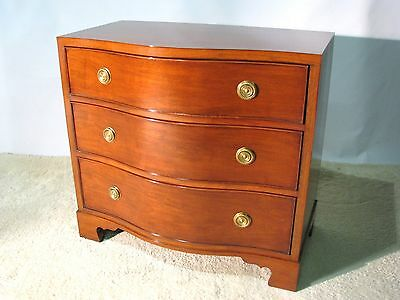 Ralph Lauren by Henredon Mahogany Three Drawer Serpentine Front Chest