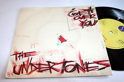 UNDERTONES get over you. uk 45 Sire Records p/s. rare punk 1979
