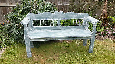BENCH ORIGINAL ANTIQUE/VINTAGE PAINTED PINE PEW /SETTLE more then 100 years old