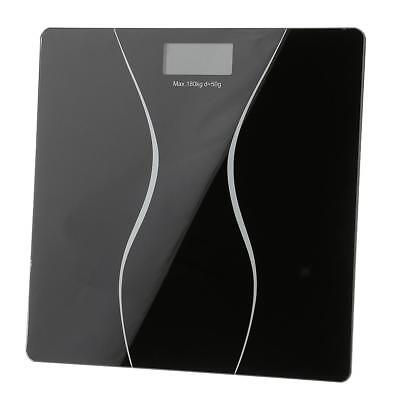 Slim Digital Bathroom Scale 400LB Body Weight LCD Glass Electronic Fitness Tool