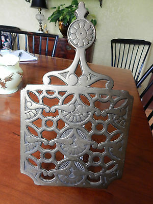Antique Clamp On Brass Hearth Kettle Trivet   W&p