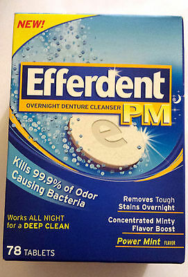EFFERDENT  PM Anti-Bacterial Denture Cleanser  78 TABLETS