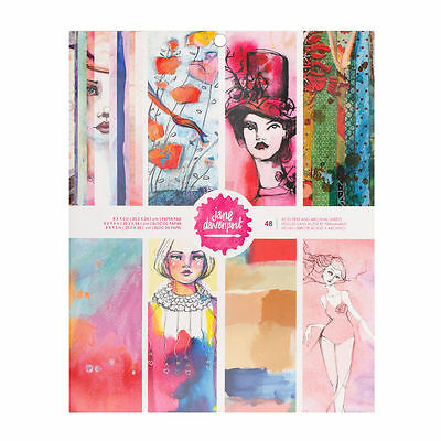 Jane Davenport Mixed Media PAPER PAD  8 x 9.5  48 pages
