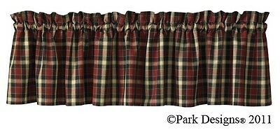 Window Curtain Valance - Concord by Park Designs - Black Red Tan