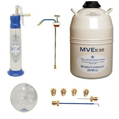 Brymill Cry-Ac Cryosurgical LN2 Sprayer Family Practice Package BRY-1001