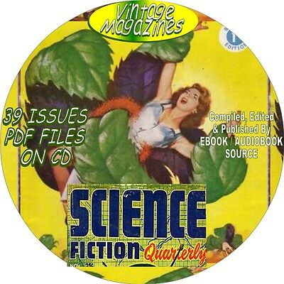 Science Fiction Quarterly Vintage Magazine, Comic Book - 39 Issues - Pdf - Dvd