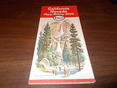 Hearst Castle California Map.1962 Enco California Nevada Vintage Road Map Hearst Castle On