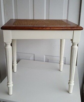 Vintage Caned Piano Bench