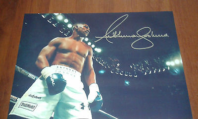 Anthony Joshua Signed Boxing Poster. Boxing Champion.