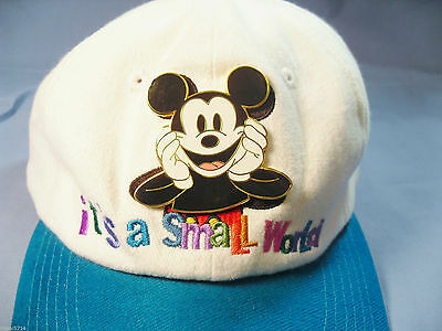 2000 Disneyana Baseball Cap-It's A Small World-NEVER WORN-MINT with TAGS