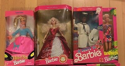Barbie Lot of 4 Dolls in Boxes