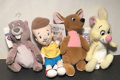 Lot of 4 Disney Store MBB, Winnie The Pooh Christopher Robin, Kanga 2 More NWT