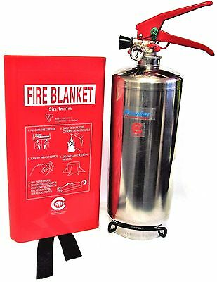 2 Kg Dry Powder Fire Extinguisher With Fire Blanket Home Office Kitchen. Ce Mark