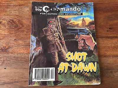 Vintage Commando comics book - Issue no: 2789, shot at dawn, action comic book