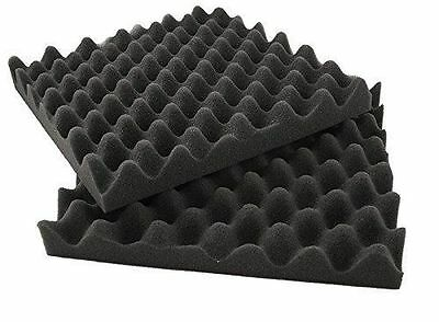 "12 Pack Acoustic Studio Soundproofing Egg Crate Foam Wall Tiles 1.5"" X 10"" X 10"""