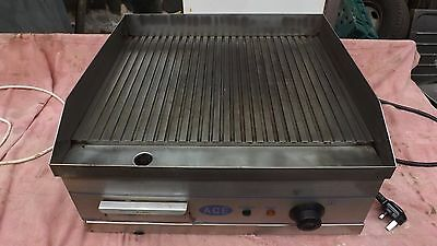 Ribbed; Commercial All Stainless Steel Electric Burger/steak/fillet Griddle