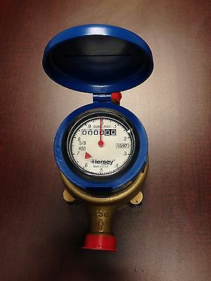 Hersey Model 430, 5/8 x 3/4 Bronze Water Meter, Reading in Cu Ft