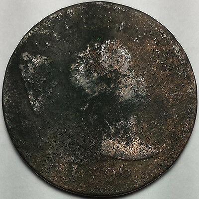 1796 Flowing Hair Liberty Cap Large Cent - Key Date Us Coin