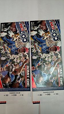 2017 INDIANAPOLIS 500 TICKETS, MAY 28th, 2017