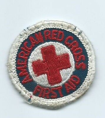 AMERICAN RED CROSS FIRST AID patch 1-5/8 dia smalll size #1695
