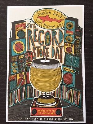 "DOGFISH HEAD CRAFT BREWERY ""Record Store Day"" ART POSTER"