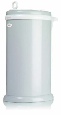 Ubbi Steel Diaper Can Pail for Cloth or Disposable Diapers - grey