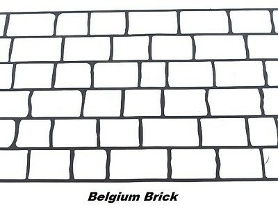 50 sqft Belgium Brick Concrete Driveway Stencils for Patios, Decks, Sidewalks