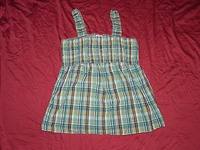 Oh! Baby by Motherhood Maternity Plaid Tank Shirt Top Large L