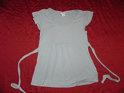 Oh! Baby by Motherhood Maternity Light Blue Shirt Top Small S
