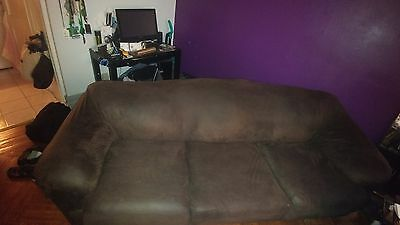 Klaussner Heights Full Sleeper Sofa Mattress Included 3 Seat Cushion Brown Cash