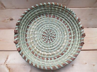 Sweetgrass Bowl Basket with Love Knots