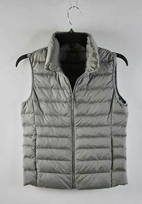 Uniqlo Coin Gray Quilted Full-Zip Sleeveless Down Vest XS