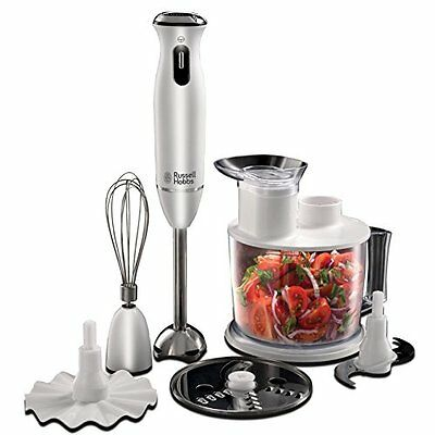 RUSSELL HOBBS 21500-56 FRULLATORE AD IMMERSIONE 6 IN 1 AURA BIANCO Nuovo Cucina