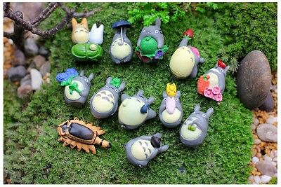 New 12pcs Hayao Miyazaki Japan Cartoon Lovely My Neighbor Totoro Figures Toy Hot